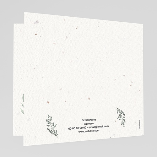 Geschäftliche Weihnachtskarten Tannenzweig Aquarell gratuit