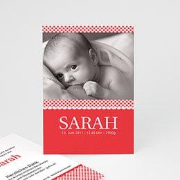 Geburtskarten für Mädchen Vichy Motiv