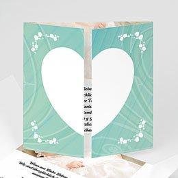 Karten Taufe Herzchenrahmen