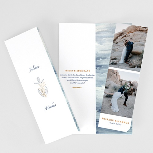Reisen Dankeskarten Hochzeit am Meer