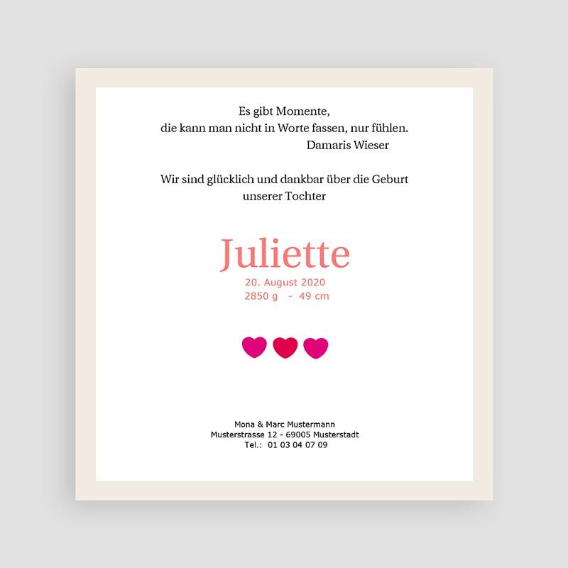 Geburtskarten für Mädchen Multi foto 2 pas cher