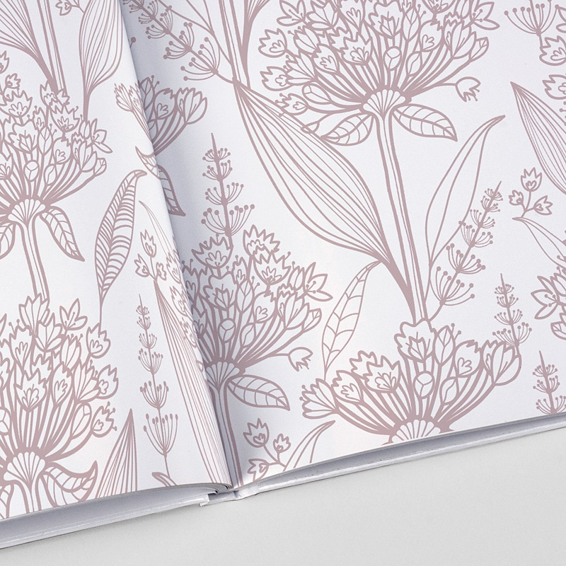 Panorama Fotobücher A4 Querformat Floral