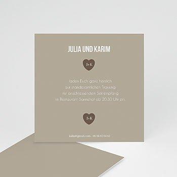 Einlegekarte individuell - Sie & Er - 1