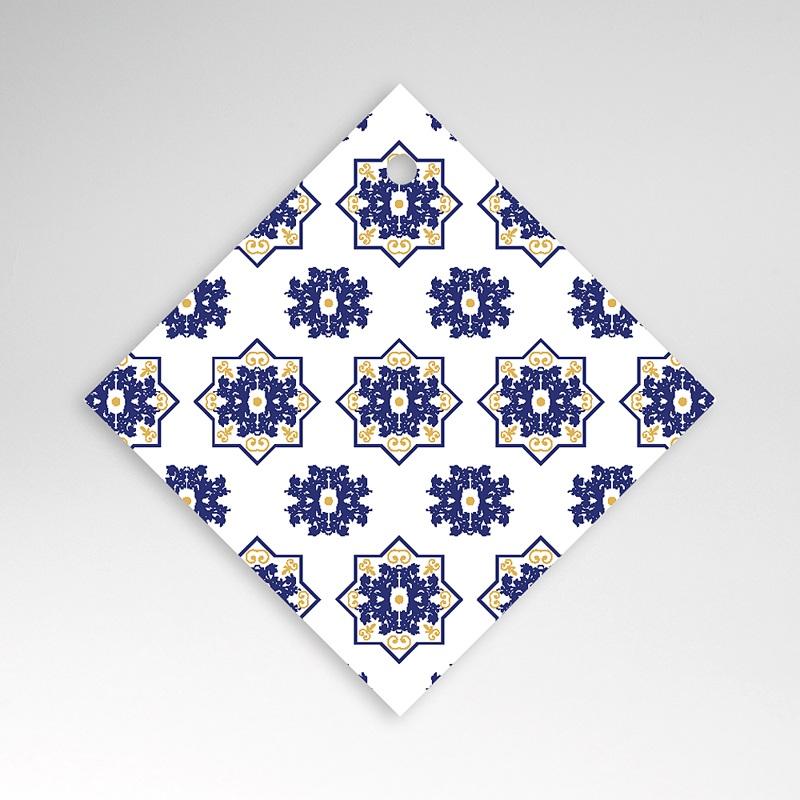Geschenkanhänger Hochzeit Ottomane Blau
