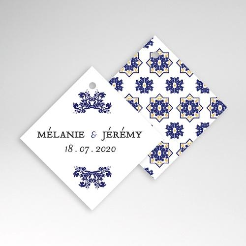 Geschenkanhänger Hochzeit Ottomane Blau pas cher