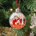 Personalisierte Weihnachtskugel Foto, Plexiglas, Durchm. 7,5 cm