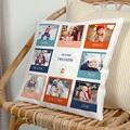 Personalisierte Foto-Kissen Quadrat, 8 Fotos, Weihnachten