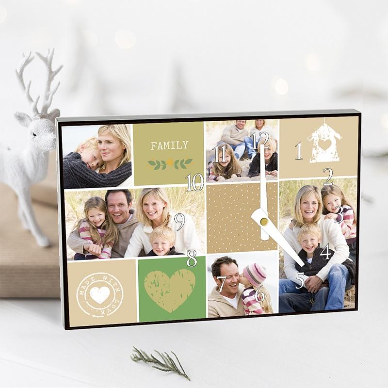 Personalisierte Fotouhr Multifoto pas cher