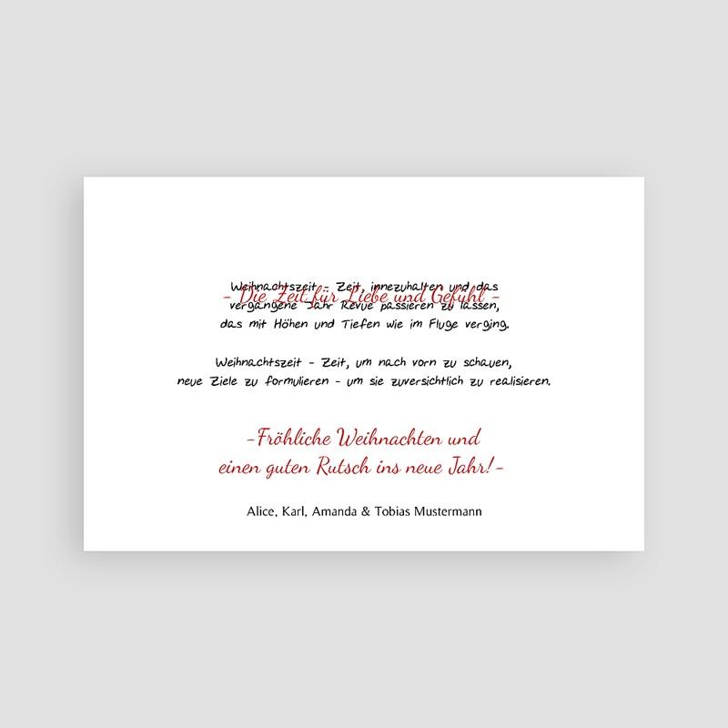 Weihnachtskarten Goldprägung, Foto, Happy New Year pas cher