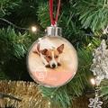 Personalisierte Weihnachtskugel HUND, PVC, DURCHM. 7.5 CM