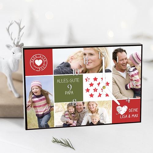 Fotouhr individuell gestalten Collage zum Valentinstag pas cher