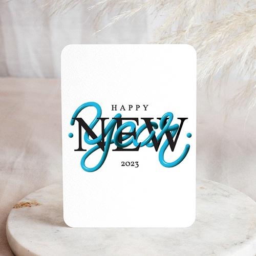Geschäftliche Weihnachtskarten Flashy New Year, 14 cm x 14 cm