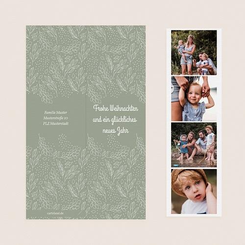 Weihnachtskarten Lesezeichen, Klappkarte, Fotos & Grün pas cher