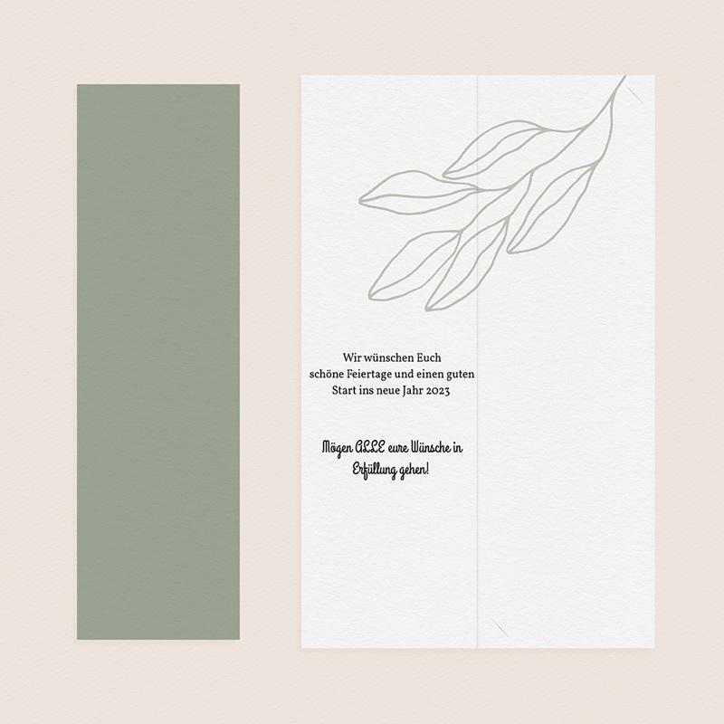 Weihnachtskarten Lesezeichen, Klappkarte, Fotos & Grün gratuit