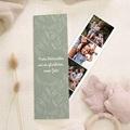 Weihnachtskarten Lesezeichen, Klappkarte, Fotos & Grün