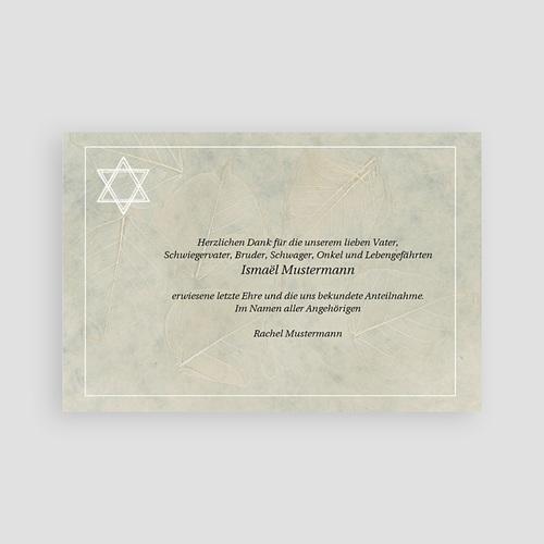 Israelitisch Dankeskarten Trauer Stern pas cher