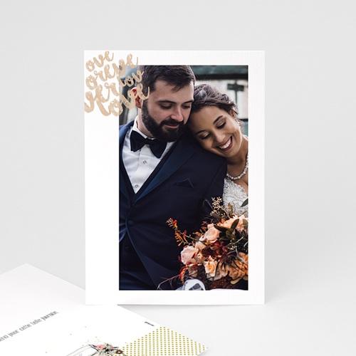 Rustikale Dankeskarten Hochzeit Vintage Just Married