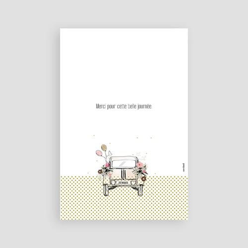 Rustikale Dankeskarten Hochzeit Vintage Just Married pas cher