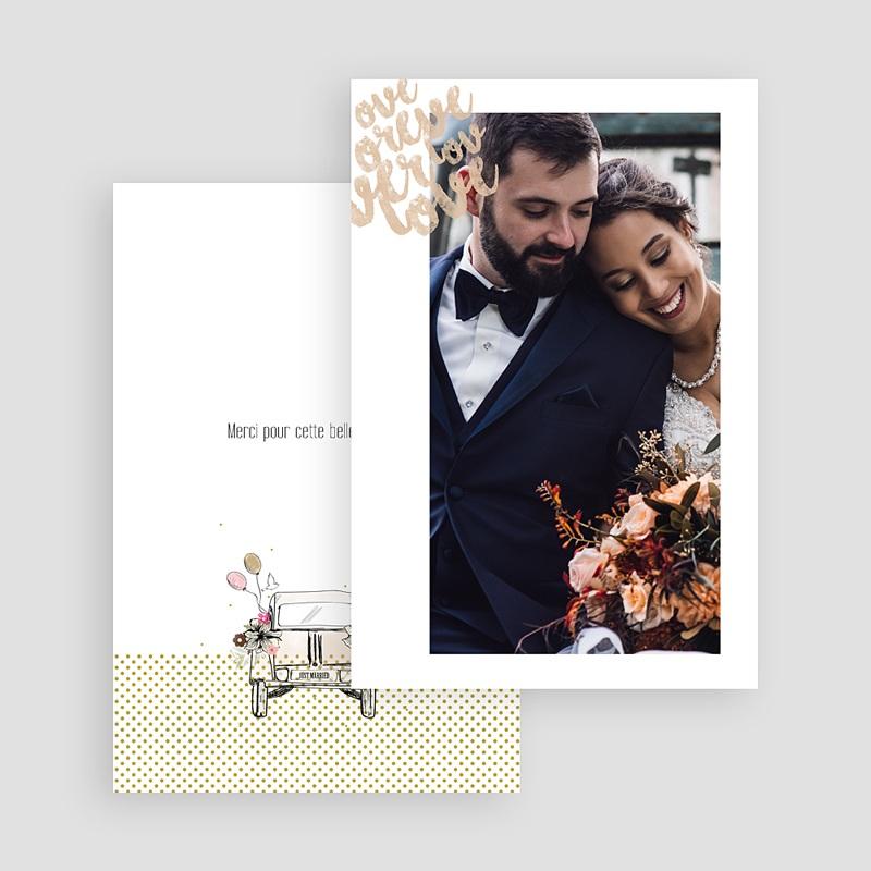 Rustikale Dankeskarten Hochzeit Vintage Just Married gratuit