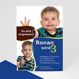 Einlegekarte Kindergeburtstag Ronan