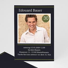 Runde Geburtstage - Geburstageinladung Männer - 1