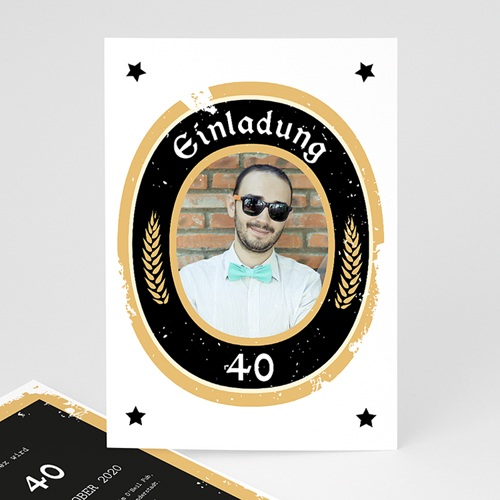 Erwachsener Einladungskarten Geburtstag Craft Beer, Foto, 12 x 16,7
