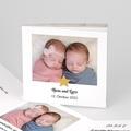 Geburtskarten für Zwillinge Unsere Stars, Leporello-Karte