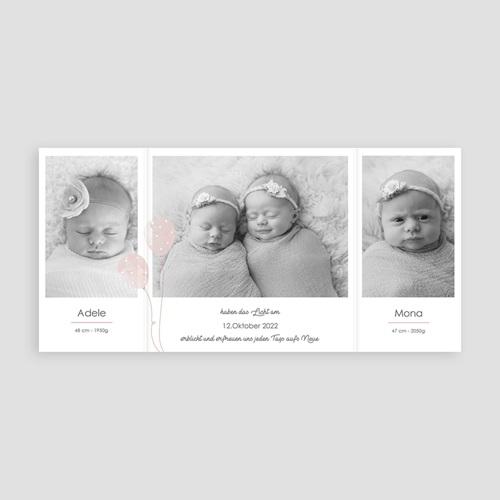 Geburtskarten Zwei Luftballons pas cher