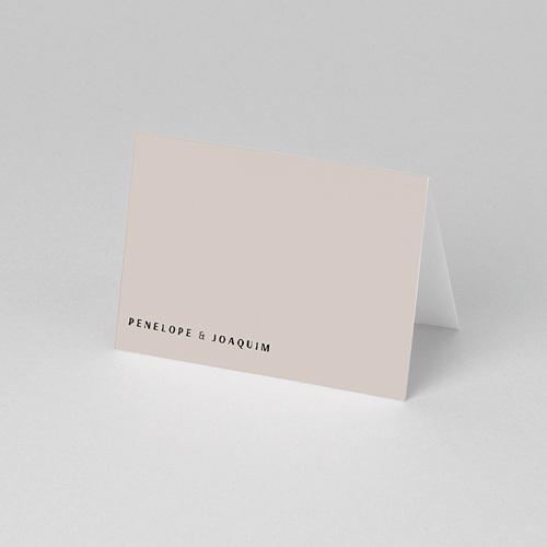 Tischkarten Hochzeit Mokka Creme, 7,5 x 5,2 pas cher