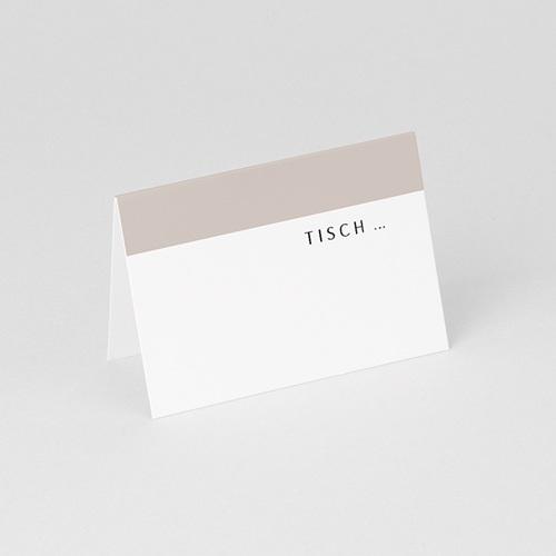 Tischkarten Hochzeit Mokka Creme, 7,5 x 5,2 gratuit