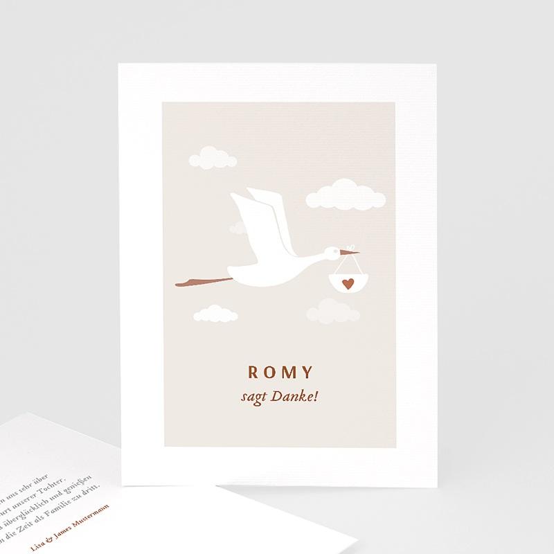Geburtskarten mit Storch Storch Mädchen, 10 cm x 14 cm