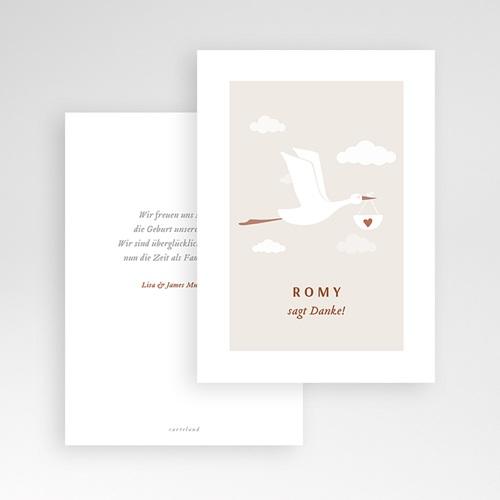 Geburtskarten mit Storch Storch Mädchen, 10 cm x 14 cm pas cher