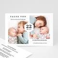 Einladungskarten Taufe für Geschwister Tauffeier, zwei Fotos, 16,7 x 12