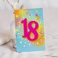 Erwachsener Einladungskarten Geburtstag Collage 18 Jahre, Relieflack,12 x 16,7