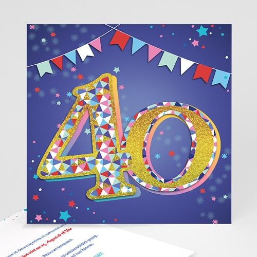 Erwachsener Einladungskarten Geburtstag Collage 18 Jahre, Relieflack, 14,5 x 15