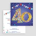 Erwachsener Einladungskarten Geburtstag Collage 18 Jahre, Relieflack, 14,5 x 15 gratuit