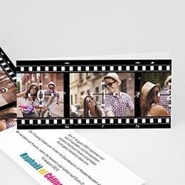 Hochzeitseinladungen Schwarz-Weiß Film ab