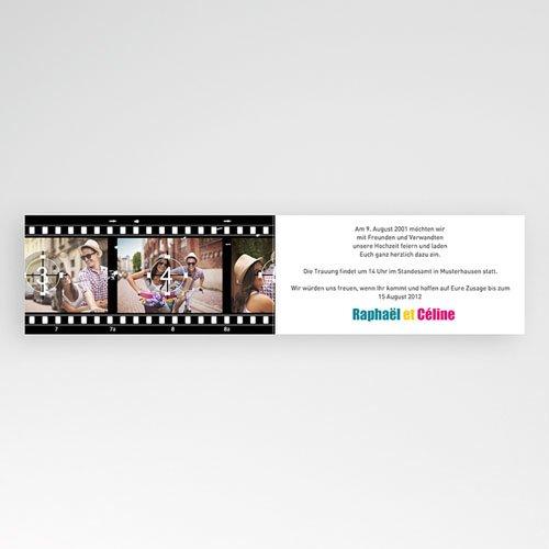 Schwarz-Weiß Hochzeitseinladungen Film ab pas cher