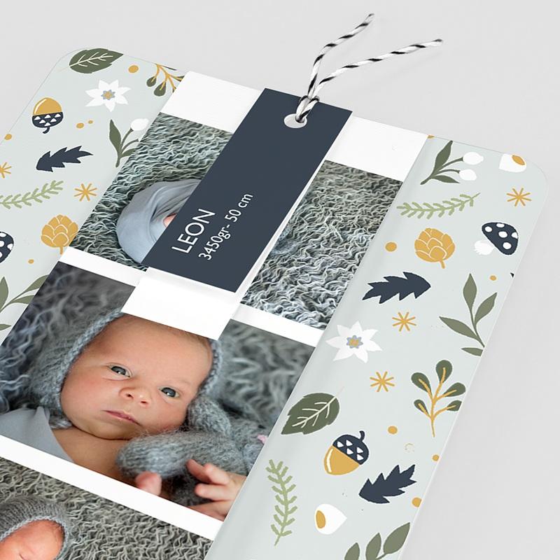 Geburtskarten Herbstmärchen, Lesezeichen, Etiketten pas cher