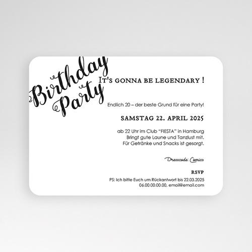 20 Jahre Alt Einladungskarten Geburtstag Birthday, Goldprägung, Foto, 16,7 x 12 pas cher