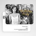 20 Jahre Alt Einladungskarten Geburtstag Birthday, Goldprägung, Foto, 16,7 x 12 gratuit