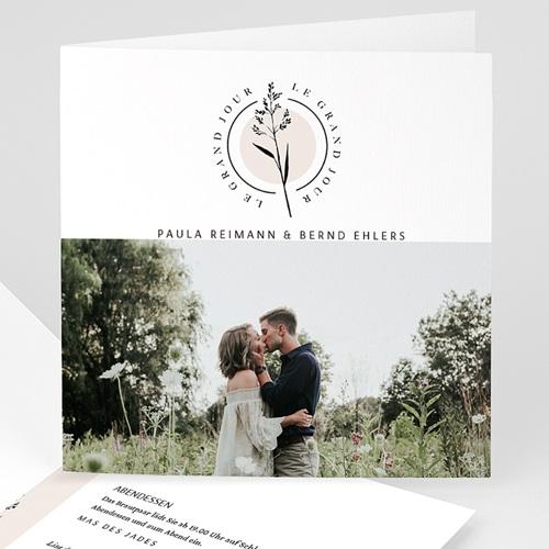 Natur Hochzeitseinladungen In der Natur, Foto, Klappkarte