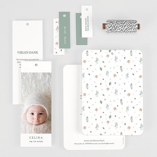 Geburtskarten Weihnachten,1 Foto, 3 Etiketten gratuit