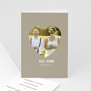 Menükarten Hochzeit  - Sie & Er - 1