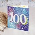 100 Jahre Alt Einladungskarten Geburtstag 100 Jahre, klappkarte, Relieflack