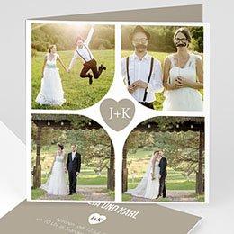 Hochzeitseinladungen modern - Sie & Er - 1