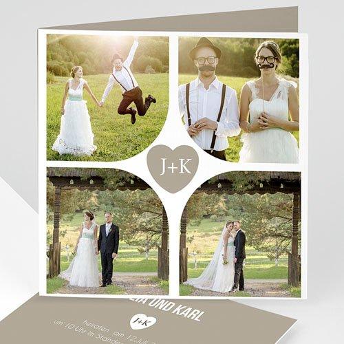 Einladungskarten Hochzeit  - Mona 8378 test