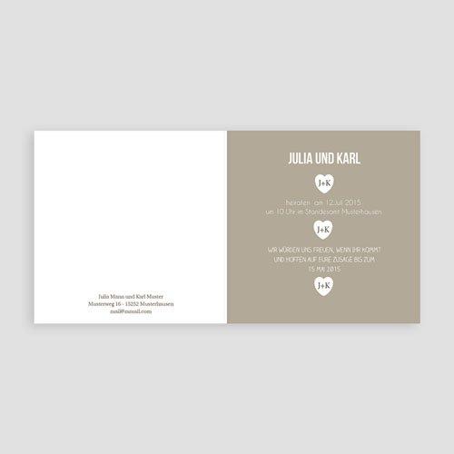 Einladungskarten Hochzeit  - Mona 8379 test