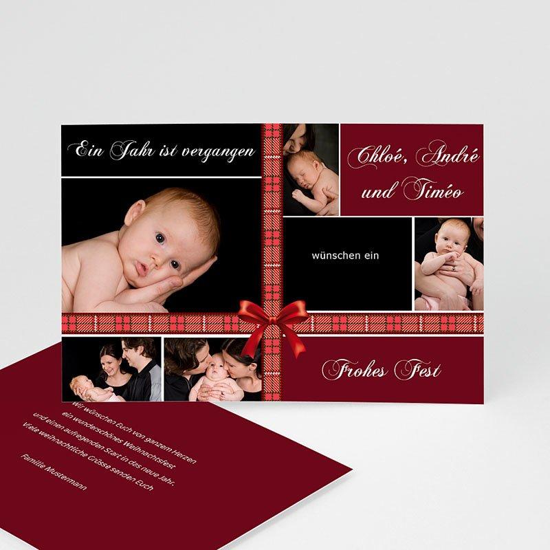 Weihnachtskarten  Dunkles Rot