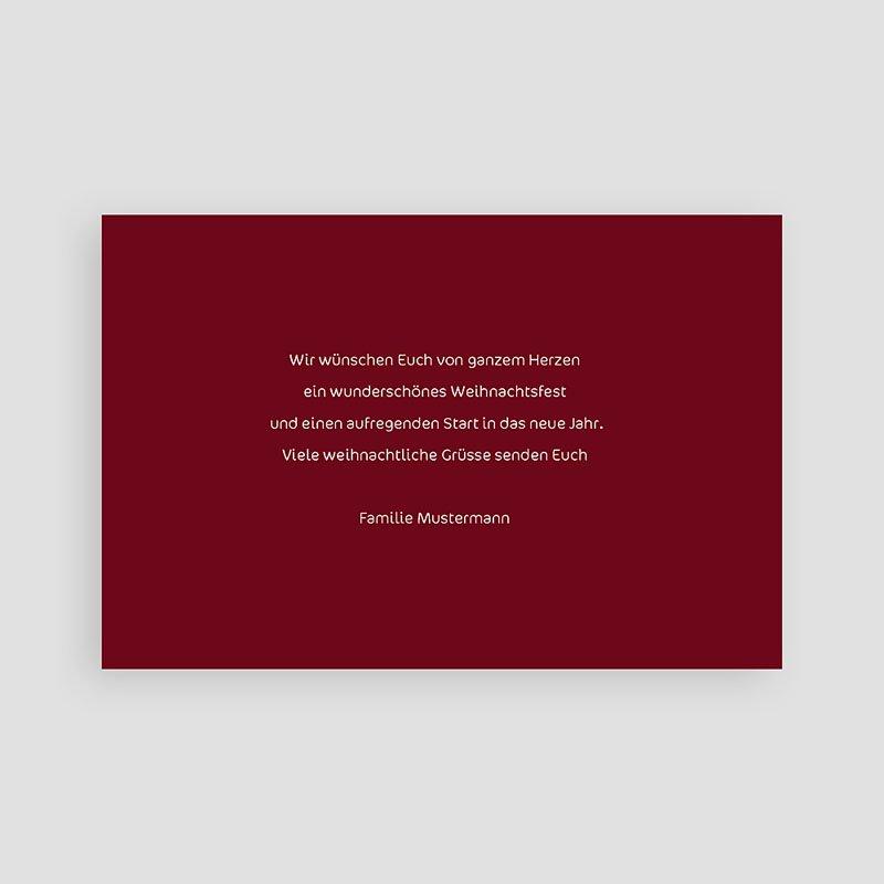 Weihnachtskarten  Dunkles Rot pas cher